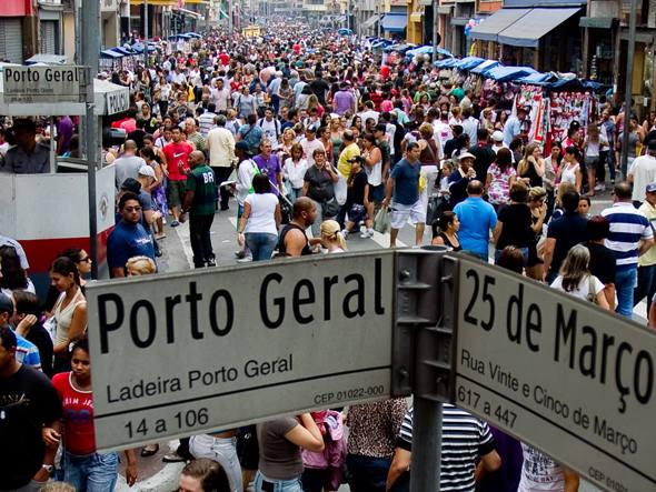 rua 25 de março | imagem: são paulo city