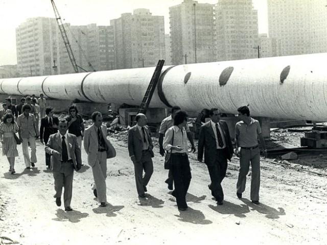canteiro de obras do emissário | imagem: arquivo sabesp