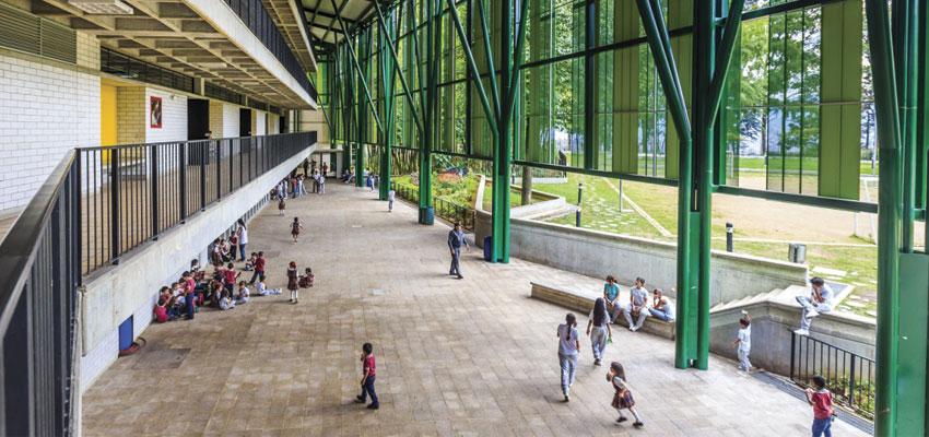 Centro Educativo Montecarlo Guillermo Gaviria Correa, em Medellín, Colômbia | Imagem: Alejandro Arango