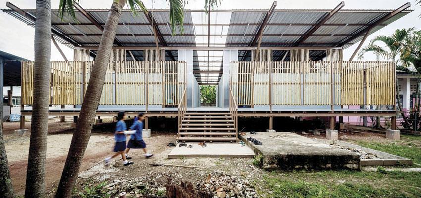 Escola Baan Nong Bua, em Chiang Rai, Tailândia | Imagem: Spaceshift Studio